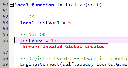 Invalid Global
