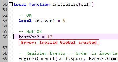 Invalid Global